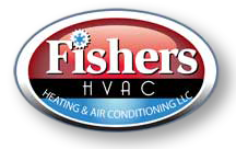 Fishers, HVAC logo design by Hunter Graphics
